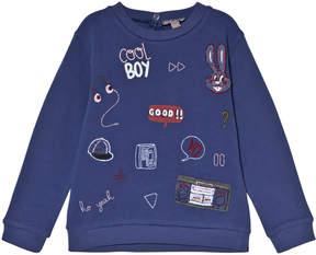 Emile et Ida Blue Badges Sweater