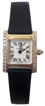Concord 14K Yellow Gold 0.50ct Diamonds 18mm Womens Watch
