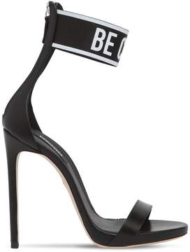 DSQUARED2 120mm Be Cool Be Nice Leather Sandals