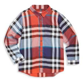 Burberry Little Boy's and Boy's Plaid Cotton Shirt