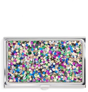 Nordstrom Women's Glitter Card Holder - Blue