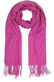 Mila Schon Women's Fuchsia Wool Scarf.