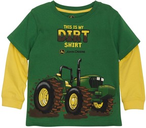 John Deere Toddler Boy Tractor This Is My Dirt Shirt Mock-Layer Graphic Tee