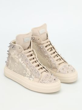Philipp Plein Angry Studded Sneakers