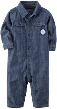 Carter's Baby Boy Chambray Jumpsuit