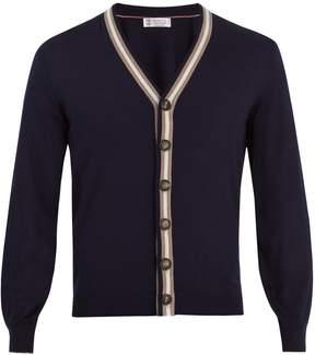 Brunello Cucinelli V-neck wool-blend cardigan