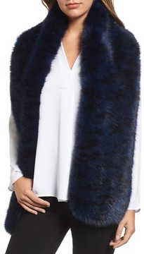 Halogen Women's Cool Tiger Faux Fur Stole