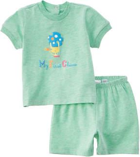 Chicco Boys' 2Pc Green T-Shirt & Short Set