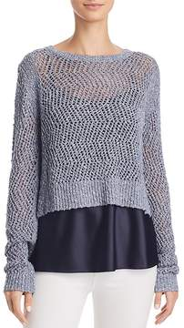 T Tahari Halsey Layered Combo Sweater