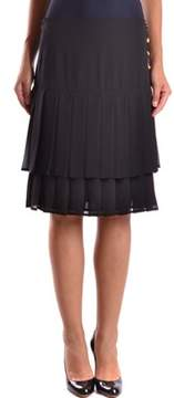 Edward Achour Paris Women's Black Polyester Skirt.