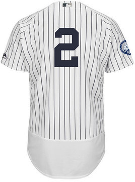 Majestic Men's Derek Jeter New York Yankees Flexbase On-Field Commomerative Jersey