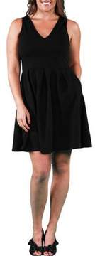 24/7 Comfort Apparel Women's Plus Size Sleeveless A-line Dress