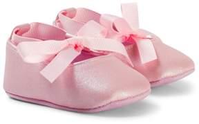 Absorba Pink Metallic Crib Shoes