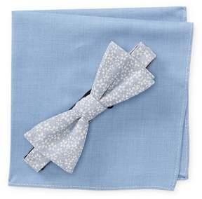 Original Penguin Llodra Floral Pre-Tied Bow Tie & Solid Pocket Square Box Set