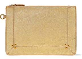Jerome Dreyfuss Popoche Metallic Textured-Leather Pouch
