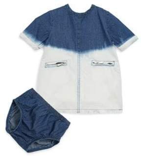 7 For All Mankind Baby's Acid Wash Dress & Bloomers Set