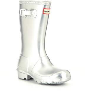 Hunter Metallic Girls Waterproof Rain Boots