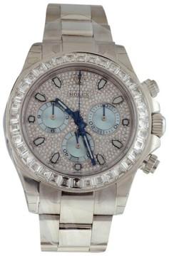Rolex Daytona 116576TBR Platinum & Baguette Diamond 40mm Watch