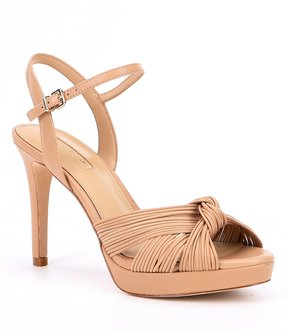 Antonio Melani Laurey Bow Detail Nubuck Dress Sandals