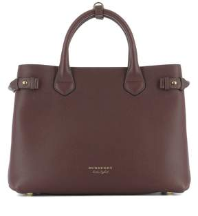 Burberry Plum Purple Leather Handle Bag - PURPLE - STYLE