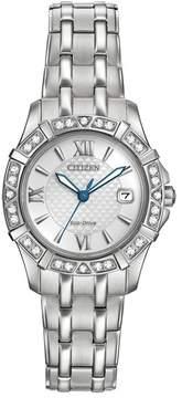 Citizen Women's Eco-Drive Diamond Quartz Stainless Bracelet Watch - 0.0053 ctw