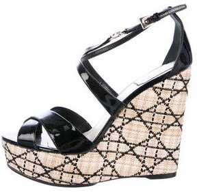 Christian Dior Cannage Wedge Sandals