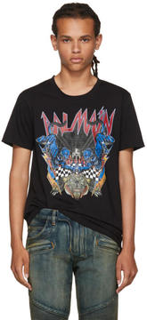 Balmain Black Logo Panther T-Shirt