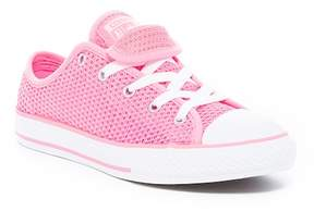 Converse Chuck Taylor All Star Double Tongue Mesh Ox Sneaker (Little Kid & Big Kid)