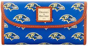 Dooney & Bourke Baltimore Ravens Large Continental Clutch - PURPLE - STYLE