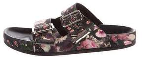 Givenchy Floral Leather Sandals