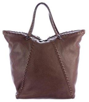 Bottega Veneta Leather Intrecciato-Trimmed Bag
