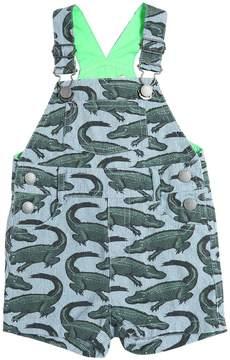 Stella McCartney Crocodiles Light Cotton Canvas Overalls