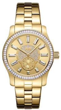 JBW Celine 9-Diamond Goldtone Bracelet Watch