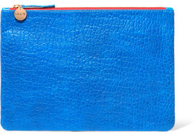 Clare V. Textured-Leather Clutch