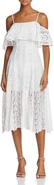 Aqua Off-The-Shoulder Lace Midi Dress - 100% Exclusive