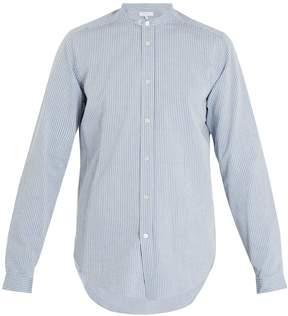 Boglioli Stand-collar striped seersucker-cotton shirt