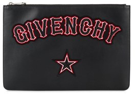 Givenchy Women's Black Leather Clutch.