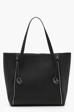 boohoo Rings And Zips Tote Day Bag