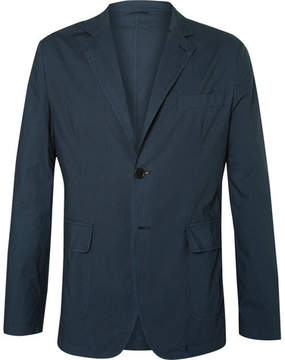 Aspesi Blue Slim-Fit Unstructured Cotton Blazer