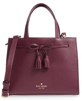 Kate Spade Hayes Street Small Isobel Leather Satchel - Purple - PURPLE - STYLE