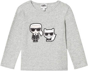Karl Lagerfeld Grey and Choupette Tee