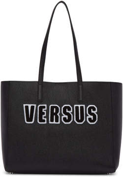 Versus Black Boucle Logo Tote