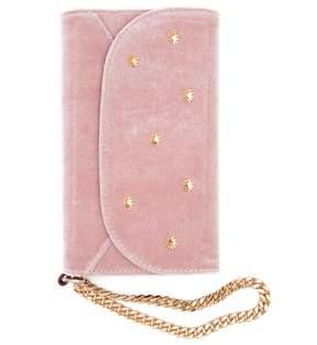 7 For All Mankind Velvet Wristlet Iphone Case In Rose