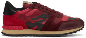 Valentino Red Garavani Camo Rockrunner Sneakers