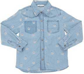 Stella McCartney Skulls Cotton Chambray Shirt