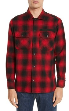 Ovadia & Sons Men's Plaid Flannel Shirt