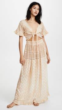 Saint Tropez Sunday Oreka Tie Front Maxi Dress