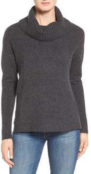 Caslon Women's Cozy Rib Detail Relaxed Turtleneck