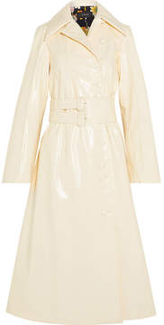 Joseph Oversized Belted Faux Leather Trench Coat - Cream