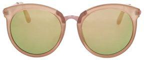 Topshop Sebb flat round sunglasses